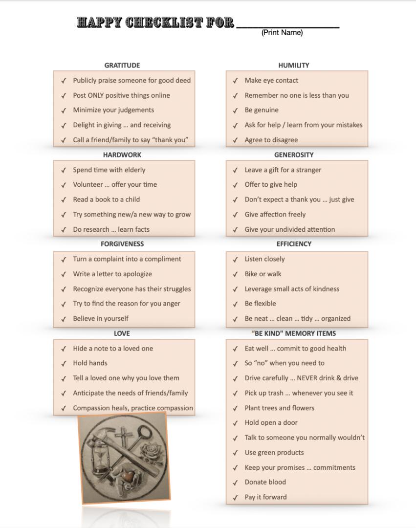 Kelli Hull Tony McLean Brown Happy Guide Checklist